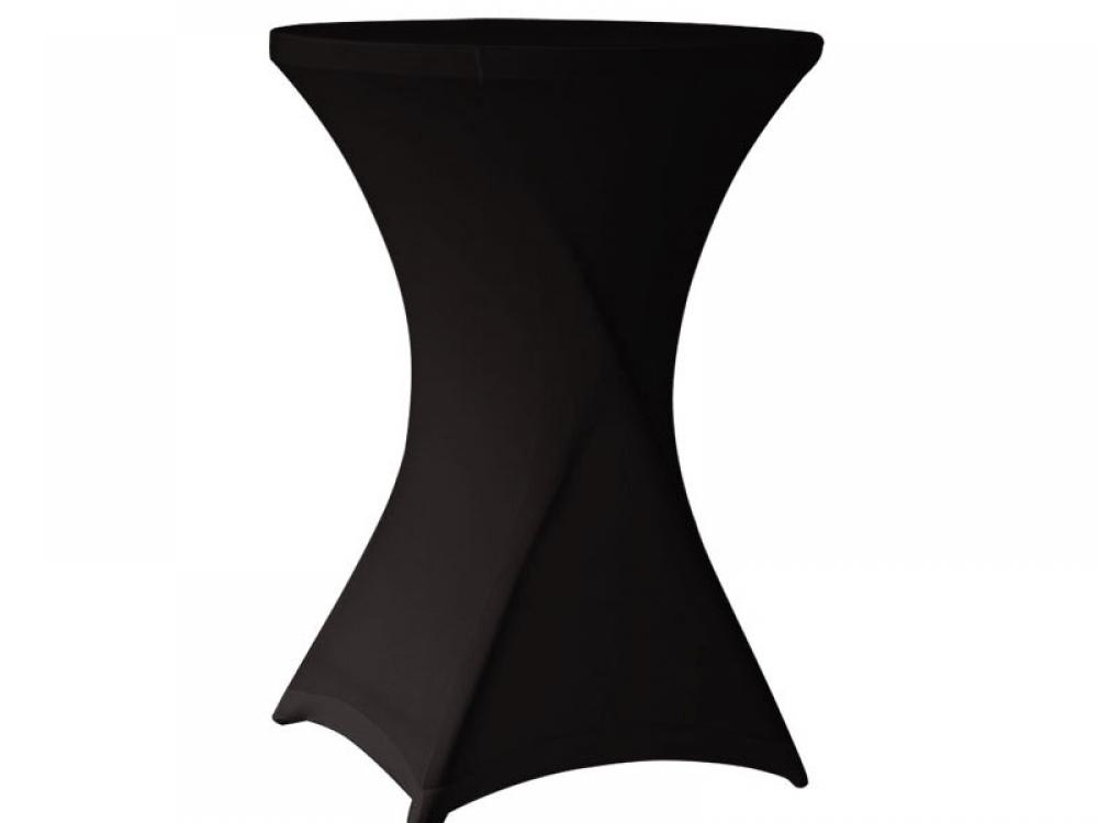 Стол коктейльный в черном стрейч чехле (диаметр столешницы 80см.)