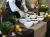Ризотто с белыми грибами, вялеными томатами и копченым сыром скаморца