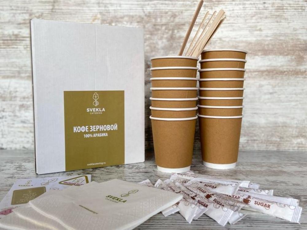 Кофе (зерновой арабика) в одноразовых термосах